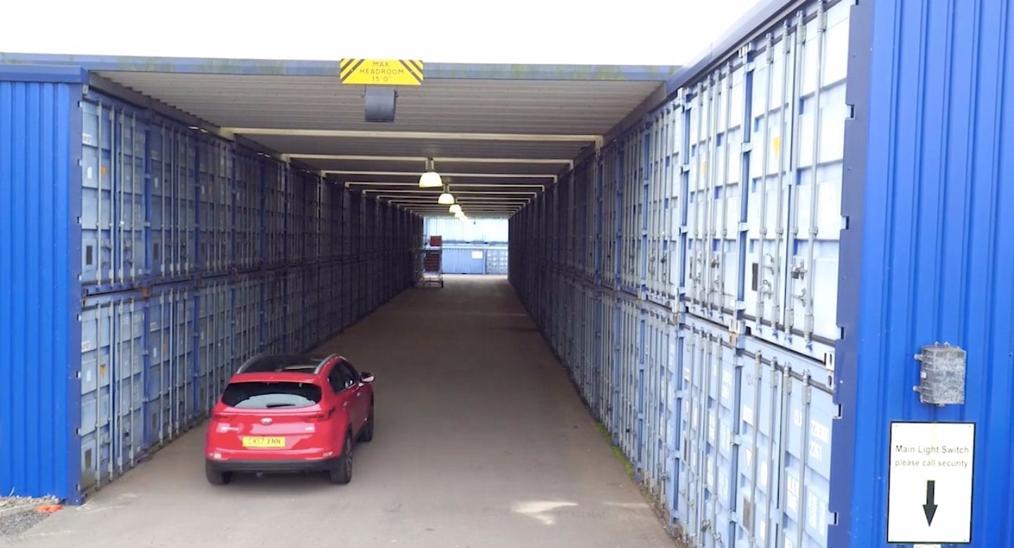 blue self storage in cardiff - easy drive-up access to our storage units